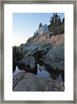 Framed Print featuring the photograph Lighthouse Reflection by Glenn Gordon