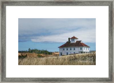 Framed Print featuring the photograph Lighthouse Residence by Gina Cormier