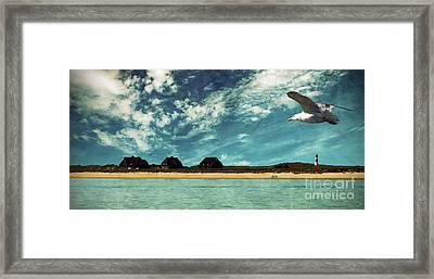 Lighthouse Scenery At List Framed Print by Hannes Cmarits