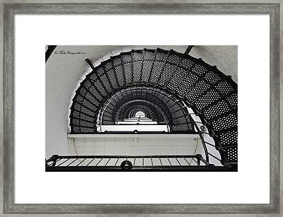Lighthouse Spiral Framed Print