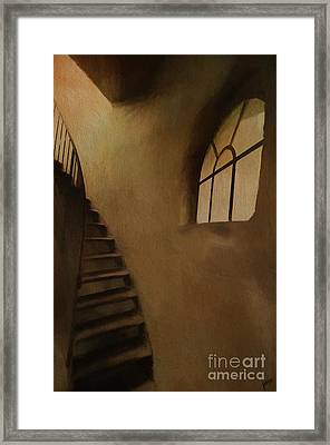 Framed Print featuring the photograph Lighthouse Stairs by Jim  Hatch