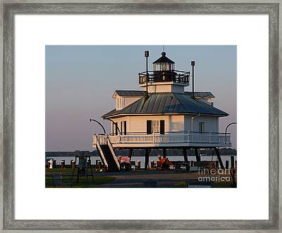 Lighthouse  St.michaels Md Framed Print by Louise Peardon
