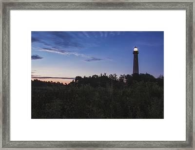 Lighthouse Summer Sunrise Framed Print