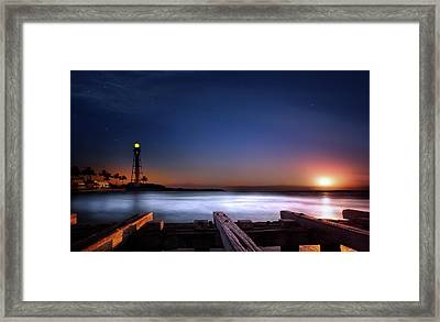 Lighthouse Sunrise Framed Print