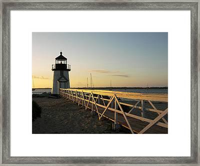 Lighthouse Sunrise Framed Print by Mark Siciliano