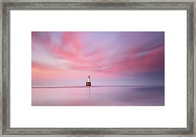 Lighthouse Sunset Framed Print