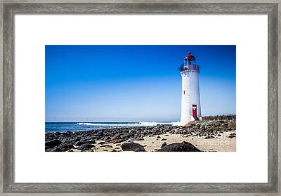 Lighthouse Surf Framed Print