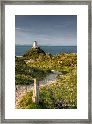 Lighthouse Twr Mawr Framed Print