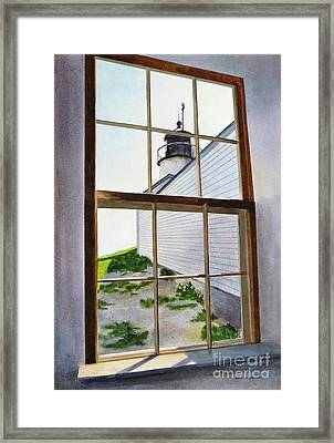 Lighthouse View Framed Print by Karol Wyckoff