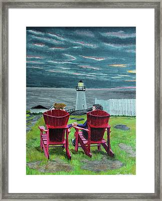 Lighthouse Lovers Framed Print