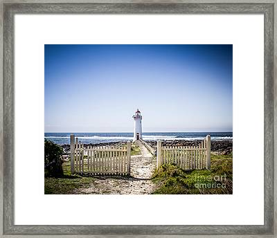 Lighthouse Walk Framed Print