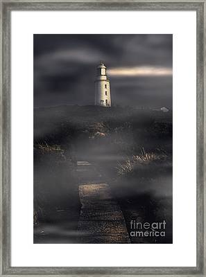 Lighthouse Way Framed Print