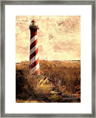 Lighthouse Westerlichttoren Framed Print by Daniel Heine