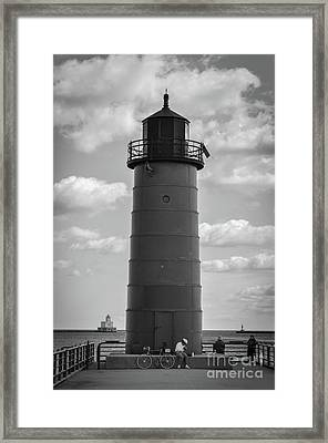 Lighthouses Of Milwaukee Framed Print