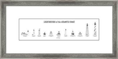 Lighthouses Of The Atlantic Coast Framed Print by Daniel Hagerman