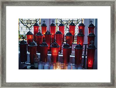 Framed Print featuring the photograph Lighting A Candle For You by Kate Word
