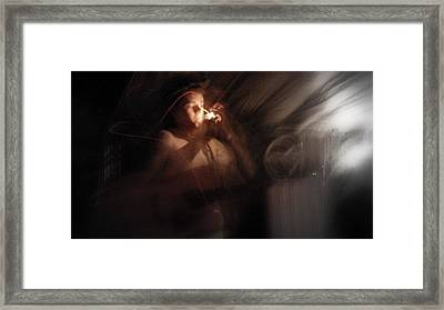 Framed Print featuring the photograph Lighting The Cigarette by Karen Musick