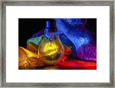 Lighting The Dark Framed Print