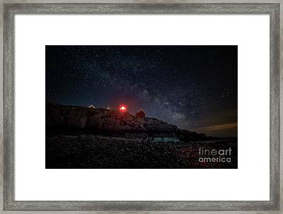 Lighting The Heaven And Earth Framed Print