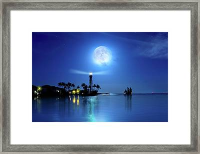 Lighting The Lighthouse Framed Print