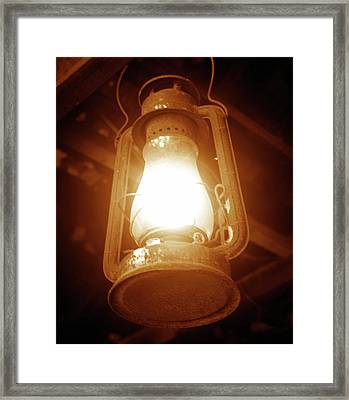 Lighting The Old West Framed Print