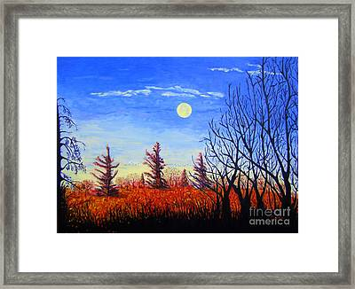 Lighting The Sky Framed Print