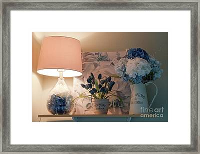 Lighting Up For An Artistic Day Framed Print by Sherry Hallemeier
