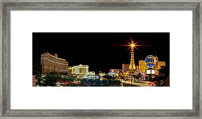 Lighting Up Vegas Framed Print