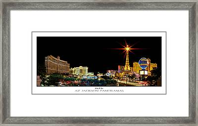 Lighting Up Vegas Poster Print Framed Print by Az Jackson
