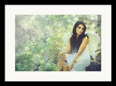 Angel Digital Art Framed Prints