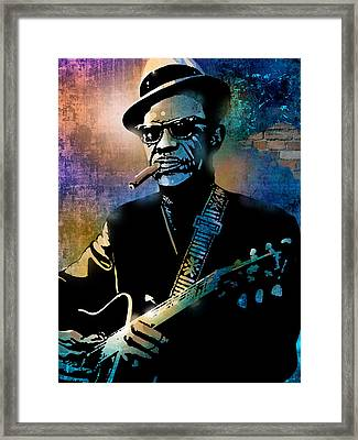 Lightnin Hopkins Framed Print
