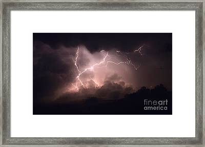 Lightning 2 Framed Print by Bob Christopher