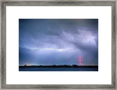 Lightning Bolting Across The Sky Framed Print by James BO  Insogna