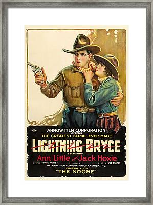 Lightning Bryce- The Noose 1919 Framed Print by Mountain Dreams