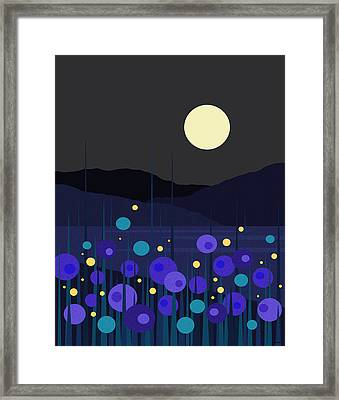 Lightning Bugs Framed Print