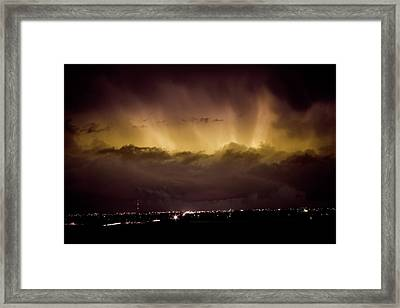 Lightning Cloud Burst Boulder County Colorado Im29 Framed Print by James BO  Insogna