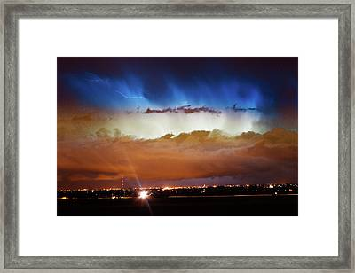 Lightning Cloud Burst Boulder County Colorado Im34 Framed Print by James BO  Insogna