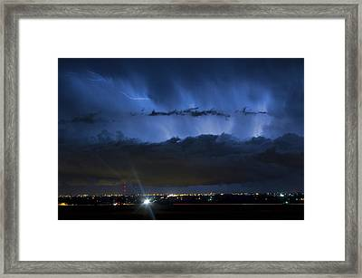 Lightning Cloud Burst Framed Print