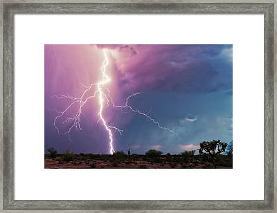 Lightning Dancer Framed Print
