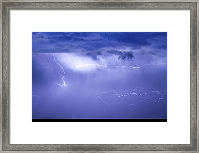 Lightning In The Rain Framed Print by James BO  Insogna