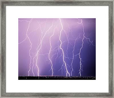 Lightning Framed Print by Leland D Howard