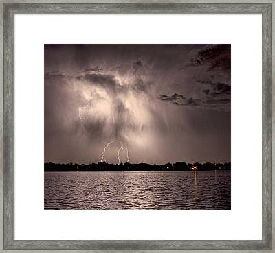 Lightning Man Framed Print