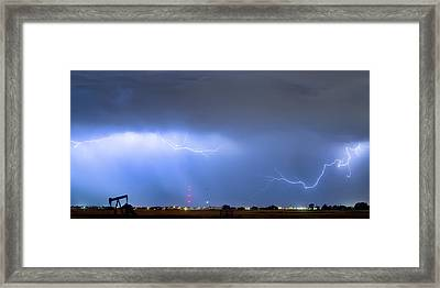 Framed Print featuring the photograph  Lightning Michelangelo Style Panorama by James BO Insogna