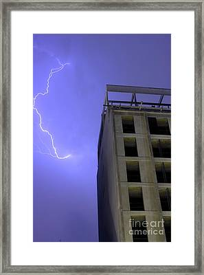 Lightning On Rivadavia Framed Print