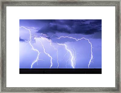 Lightning On The Plains Framed Print