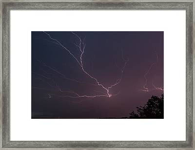 Lightning Over Lake Lanier Framed Print