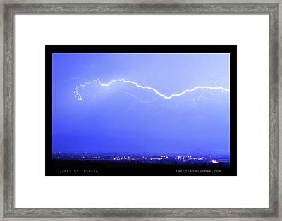 Lightning Over North Boulder Colorado  Poster Lm Framed Print