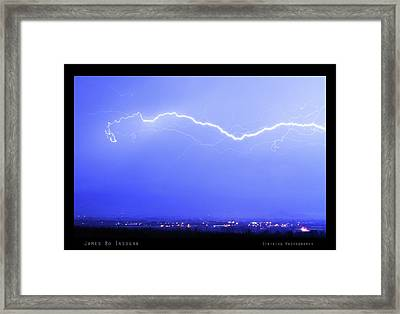Lightning Over North Boulder Colorado  Poster Sp Framed Print