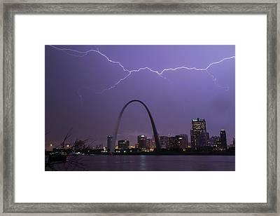 Lightning Over St Louis Framed Print