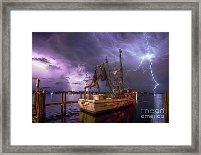 Lightning Over The Horizon Framed Print